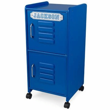 KidKraft Personalized Medium Locker in Blue