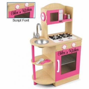 KidKraft Personalized Pink Wooden Kitchen