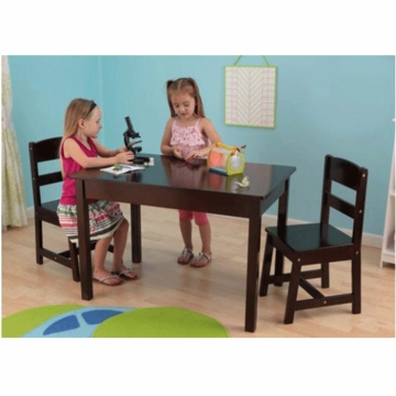 KidKraft Rectangle Espresso Table & Chair Set