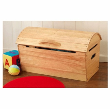 KidKraft Round Top Storage Chest in Natural
