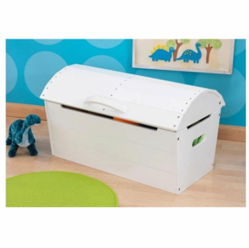 KidKraft Round Top Storage Chest in White