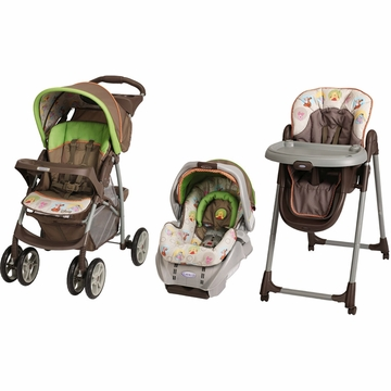 Graco Peek a Pooh Travel System & High Chair Bundle
