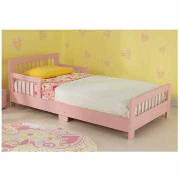 KidKraft Slatted Toddler Cot in Pink