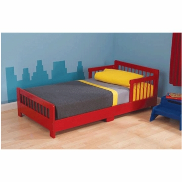 KidKraft Slatted Toddler Cot in Red