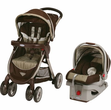 Graco FastAction Fold Click Connect Travel System - Farrow