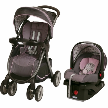 Graco FastAction Fold Click Connect Travel System - Jazmin