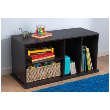 KidKraft Storage Unit with Shelves in Espresso