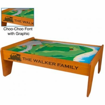 KidKraft Personalized Train Table in Honey