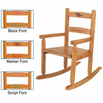 KidKraft Personalized Two Slat Rocking Chair in Honey