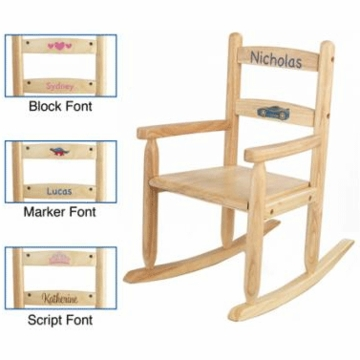 KidKraft Personalized Two Slat Rocking Chair in Natural