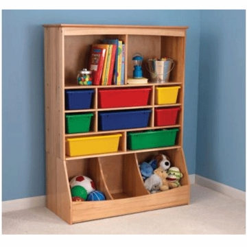 KidKraft Wall Storage Unit in Honey