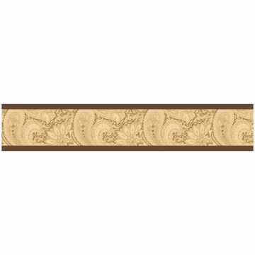 Sweet JoJo Designs Camel Paisley Wallpaper Border