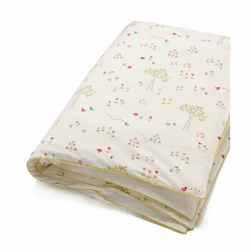 Auggie Printed Toddler Duvet Cover in Rabbit Patch