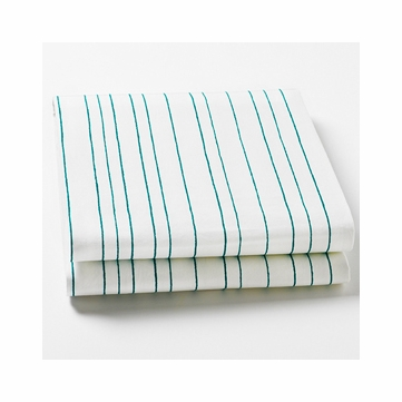 Auggie Fitted Sheet in Painted Stripe Ocean