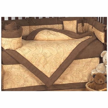 Sweet JoJo Designs Camel Paisley 9 Piece Crib Bedding Set