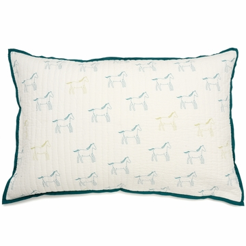 Auggie Quilted Decorative Pillow Cover in Pony Love
