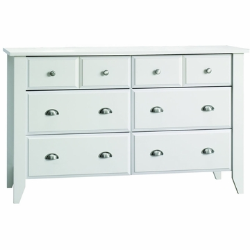 Child Craft Shoal Creek Double Dresser in Matte White