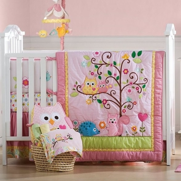 KidsLine Dena Happi Tree 8-Piece Crib Set