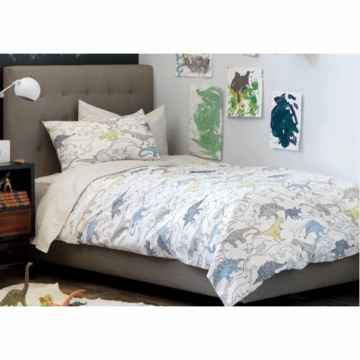 DwellStudio Dinosaurs Multi Full/Queen Duvet Set