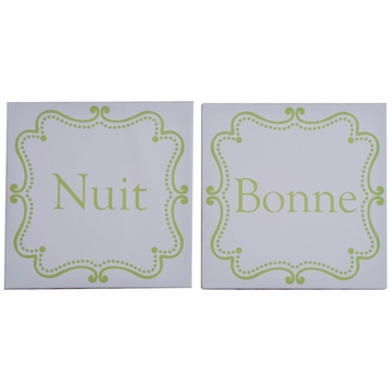 KidsLine Hotel Green Canvas Wall Art - Set of 2