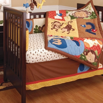 KidsLine Jungle 123 8-Piece Crib Set