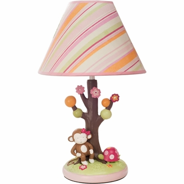 KidsLine Miss Monkey Lamp Base and Shade