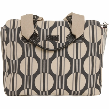 OiOi Tote Diaper Bag in Dot Stripe