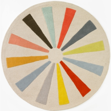 DwellStudio Pinwheel Multi Round Rug - 5 FT
