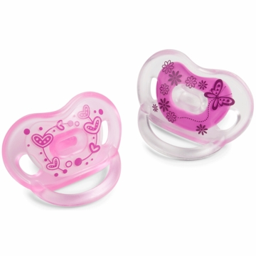 Born Free Bliss Handle 2-Pack Pacifier, 6+ Months - Pink