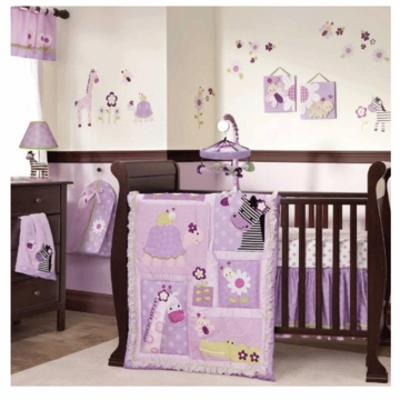 Lambs & Ivy Garden Safari 5 Piece Crib Bedding Set