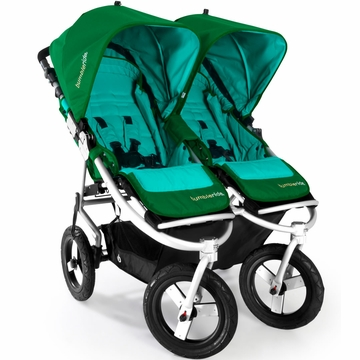 Bumbleride Indie Twin Stroller in Green Papyrus