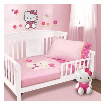 Lambs & Ivy Hello Kitty Garden 4 Piece Toddler Bedding Set