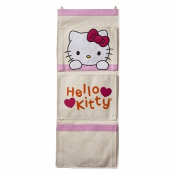 Lambs & Ivy Hello Kitty Garden Canvas Wall Organizer