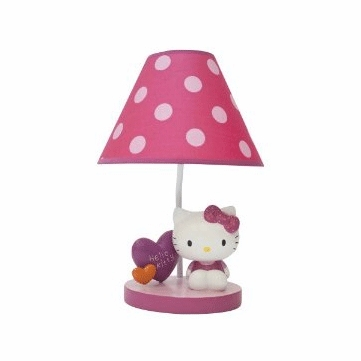 Lambs & Ivy Hello Kitty Garden Lamp with Shade & Bulb