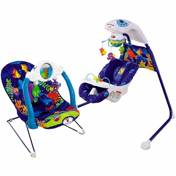 Fisher-Price Ocean Wonders Swing & Bouncer Bundle