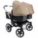 Bugaboo Donkey Twin Stroller in Black/Sand