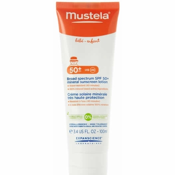 Mustela Broad Spectrum SPF 50+ Mineral Sunscreen Lotion, 3.4 oz