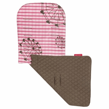 Maclaren Reversible Seat Liner in Ferris Wheel Blush Pink/Deep Water