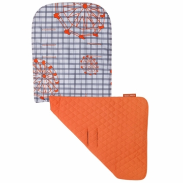 Maclaren Reversible Seat Liner in Ferris Wheel Silver/Flame Orange