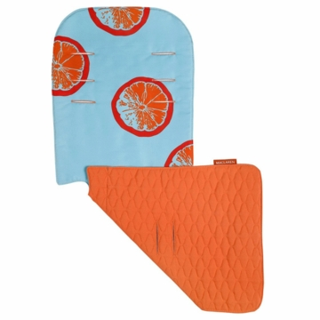 Maclaren Reversible Seat Liner in Fruit Slices Blue Radiance/Flame Orange