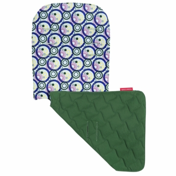 Maclaren Reversible Seat Liner in Soda Pop Angel Falls Blue/Racing Green