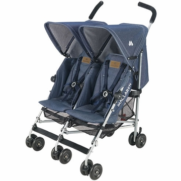Maclaren Twin Triumph Double Stroller - Denim Limited Edition
