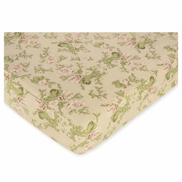 Sweet JoJo Designs Annabel Floral Print Crib Sheet
