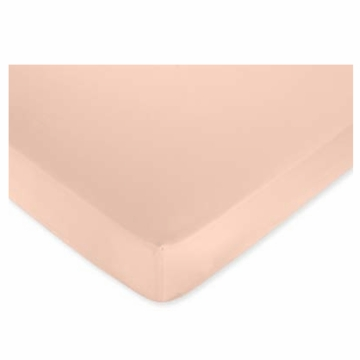 Sweet JoJo Designs Annabel Solid Peach Crib Sheet