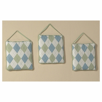 Sweet JoJo Designs Argyle Green & Blue Wall Hangings