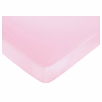 Sweet JoJo Designs Ballerina Crib Sheet in Solid Pink