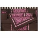 Sweet JoJo Designs Bella Pink 9 Piece Crib Bedding Set