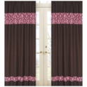 Sweet JoJo Designs Bella Pink Window Panels