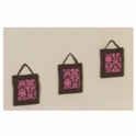 Sweet JoJo Designs Bella Pink Wall Hangings