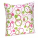 Sweet JoJo Designs Circles Pink Decorative Throw Pillow